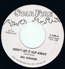 Ral Donner Dont Let It Slip Away Star Fire Mint Unplayed! Free Shipping!